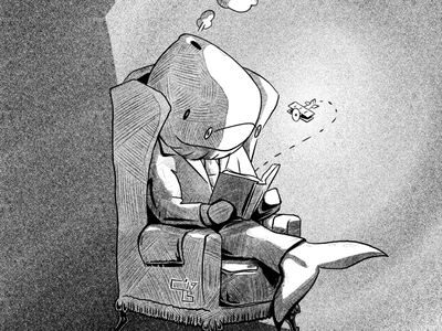 Imagine Illustration drawing digital drawing surreal imagine ink spot illustration reading inktober whale artmash procreate