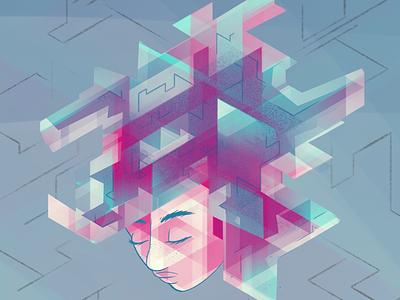 GE0DE Character Concept digital art concept art character art abstract isometric geometric character concept character design
