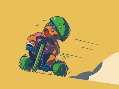 AAAAAAAAAA childhood outside character art character character design comics stunts skid action big wheel bikes comic kids summer drawing illustration