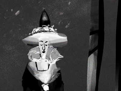 Witch In Progress for Commission value study value concept concept illustration concept art animation character design digital illustrator commission character illustration witch