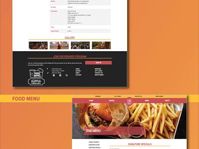 Aloma Cinema Grill responsive design website design logo branding concept
