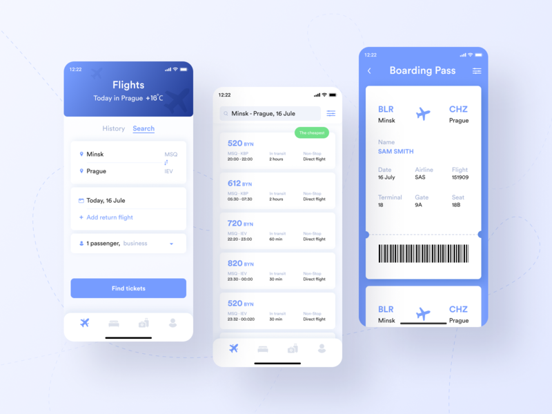 Boarding Pass travelling boarding travel app design travel travel app ux app ios minimal dailyui daily challange design ui
