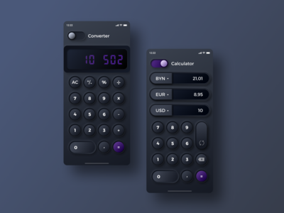 Skeuomorphic Calculator And Converter