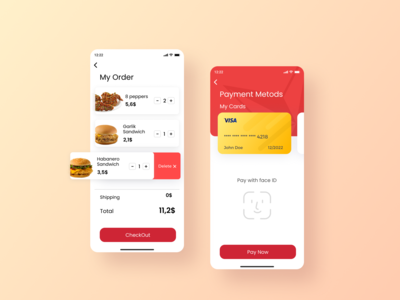 Credit Card Checkout. Texas Chicken