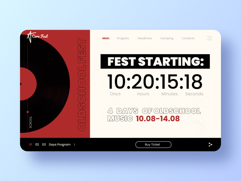 Music Fest / Countdown timer 014 countdown timer web icon logo branding dailyui daily challange ux design ui