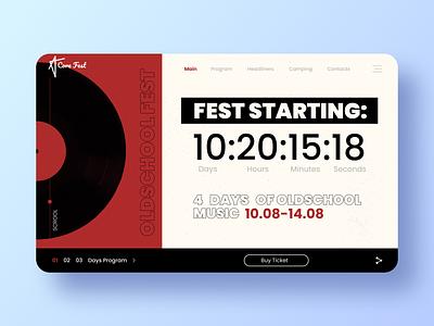 Music Fest / Countdown timer 014 countdown timer web icon logo branding dailyui daily challange ux design ui