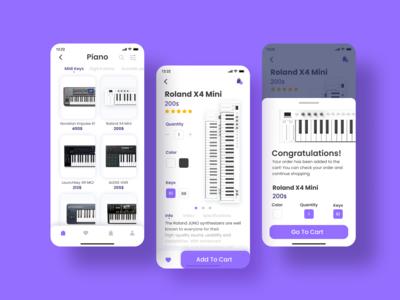 E-commerce Piano Shop