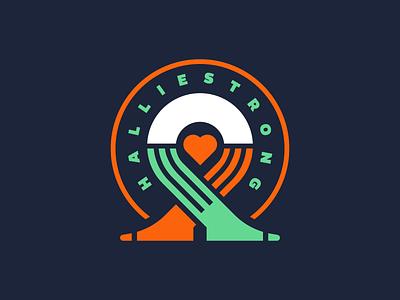 HallieStrong Foundation heart socks ribbon icon logo