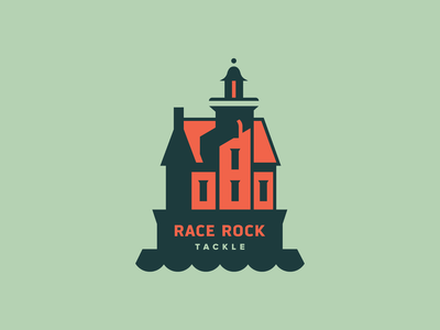 Race Rock Tackle building architecture lighthouse identity icon illustration logo