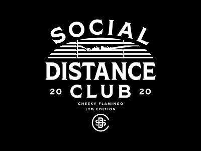 Social Distance Club covid 19 tee shirt illustration