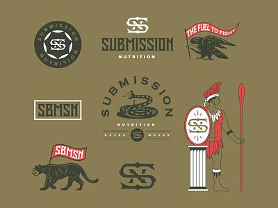 Flash Sheet bird snake puma illustration monogram sheet flash branding nutrition