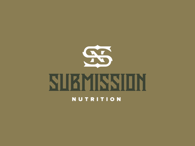 Submission monogram typography logotype