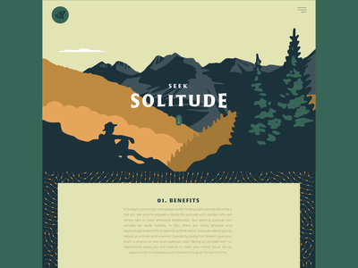 Seek Solitude outdoors scenic mountains nature landscape outdoor illustration