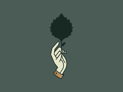 Hand colorado beer identity illustration logo leaf hand