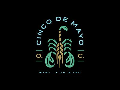 Old Chicago Cinco de Mayo Mini Tour Tee barley beer illustration scorpion cinco de mayo mexico