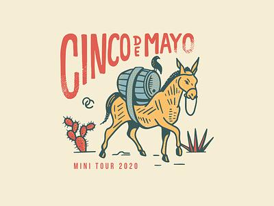 Old Chicago Cinco de Mayo Mini Tour Tee cinco de mayo mexico beer illustration