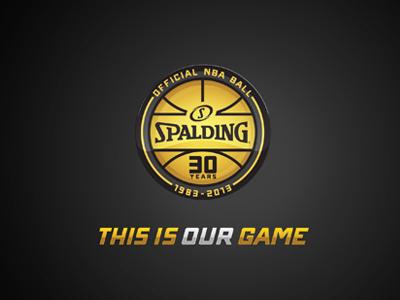 Spalding 30th logo sport spalding basketball nba anniversary circular enclosure