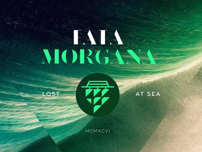 Fata Morgana mystery mirage sea branding icon logo ocean ship nautical