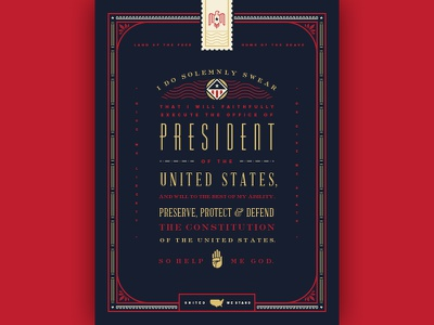 Oath of Office typogrpahy poster type politics president eagle america usa