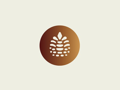 Lil pine cone I'm working on forest nature branding identity logo pine cone pine