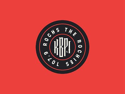 KBPI Rebrand metal punk roll rock radio typography logo