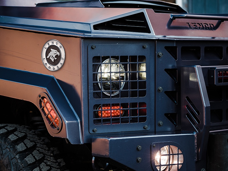 Lenco Armored Vehicles 3 tactical 4x4 vehicle police military feline cougar cat branding logo