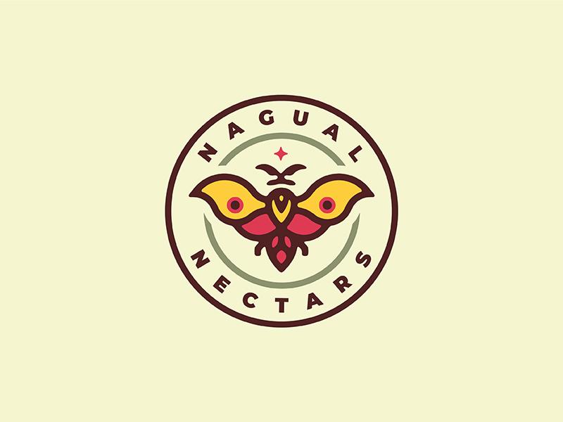 Nagual Nectars Moth identity mark logo icon nagual sorcery magic moth