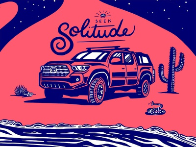 4x4 Series 1/3 tacoma toyota solitude nature illustration vehicle offroad overlanding