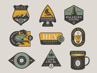 Parc Mosaic Badges