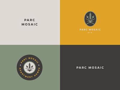 Parc Mosaic Brand Identity residential homes apartments colorado boulder grass branding logo