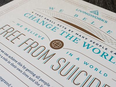 LivingWorks Manifesto Poster letterpress typography poster