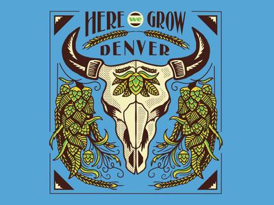 "Yakima Hops ""Here We Grow"" Poster"
