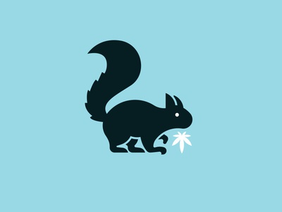 Secret Stash Squirrel dispensary weed squirrel marijuana logo