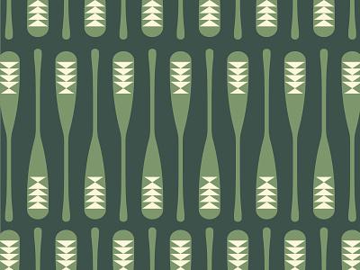 Pattern paddle lake forest nautical