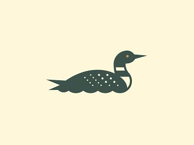 Loon fowl loon duck vector branding identity logo