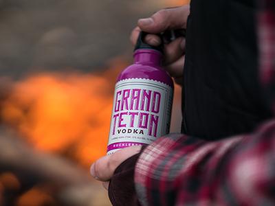 Grand Teton Distillery 375ml Huckleberry Vodka Packaging