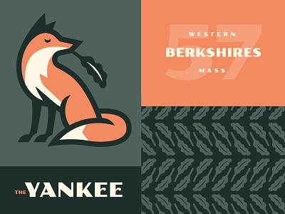 The Yankee logo yankee mid century modern vintage fox berkshires massachusetts branding hotel