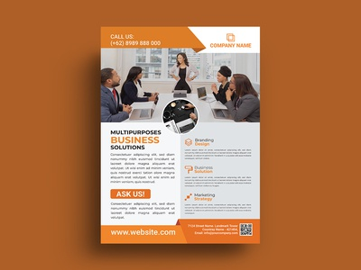 Professional clean business flyer design