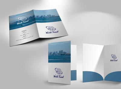 Travel Marketing Folder / Presentation Folder Design