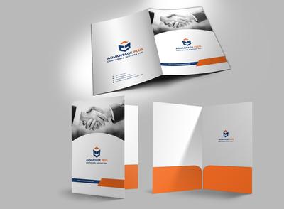 Real Estate Marketing Folder / presentation folder design