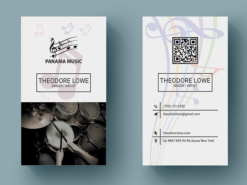 Music Business Card appdesign ui