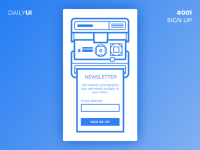 DailyUI #001 - Photography Newsletter Sign Up