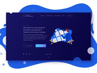 Macro Recruitment Website vector web app website ui logo identity design branding concept graphic design branding