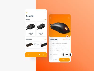 SteelSeries Re-Design Concept branding concept icon web app website ui ux identity design graphic design branding