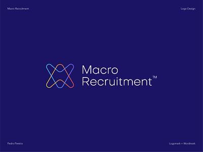 Macro Recruitment Branding webflow recruitmentsoftware logoword logomark gradient web design brand design brand identity branding logotype logo webdesign website recruitment agency ui graphic design