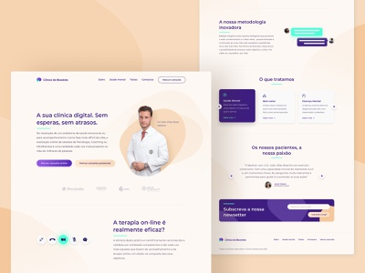 Psychologist digital Clinic Website healthy health app ux design ui design landing page mobile app design mobile ui mobile application mobile design web design interface doctor hospital mobile app website mobile health clinic ux ui