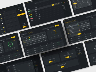 Signal Generator Web App grey black yellow user experience user interface interface web apps app design dark app dark theme dark mode dark ui ux design ui design ui  ux broadcasting broadcast web app