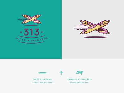 313 Doces e Salgados logo photoshop illustrator branding identity design graphic design design branding concept