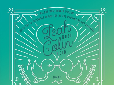Leah & Colin Invitation Package