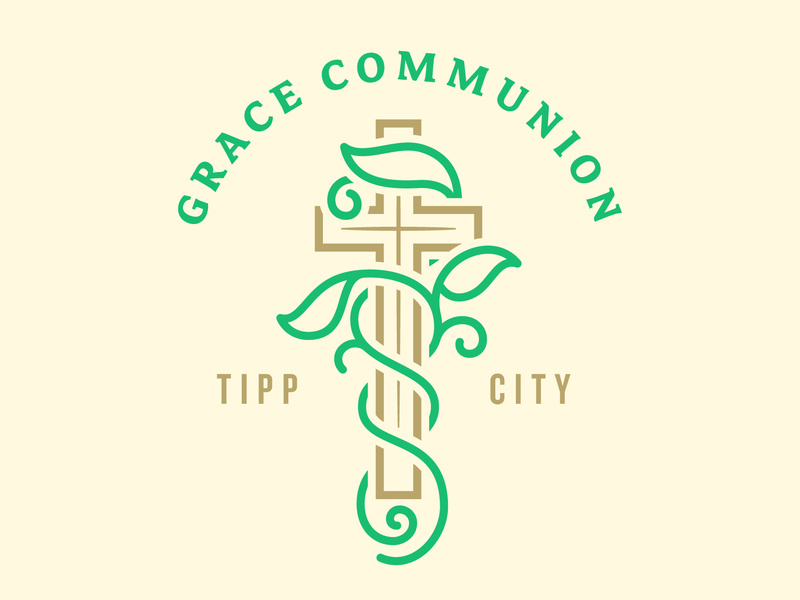 Grace Communion Logo sermon clean vine cross logo ministry bible church